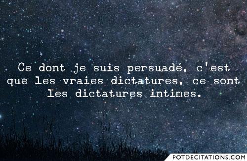 La dictature del'intime
